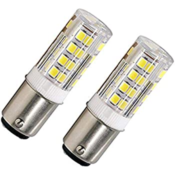 LED BA15D Corn Bulb, Ba15d Double Contact Bayonet Base, 5w 50W Equivalent 120 Volts, Dimmable 500Lm Max, Daylight(5100K) 2 pack