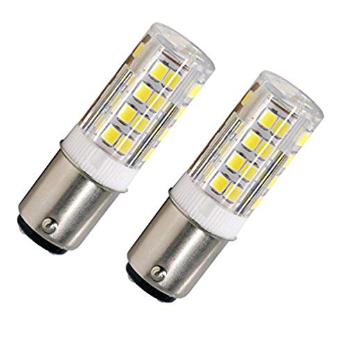 LED BA15D Corn Bulb, Ba15d Double Contact Bayonet Base, 5w 50W Equivalent 120 Volts, Dimmable 500Lm Max, Daylight(5100K) 2 pack ()
