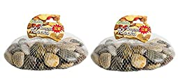 Crafters Square Polished Multi-Toned River Rock, 32 oz x 2 = 64 oz Total, 2 Bags