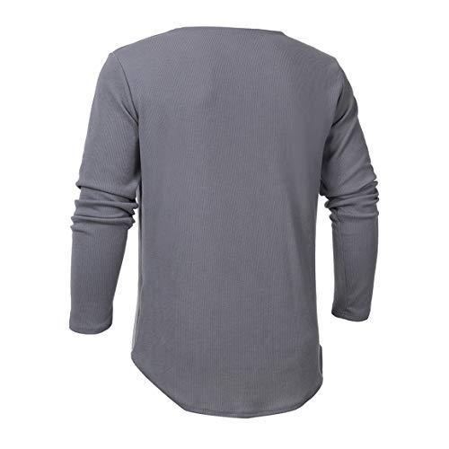 Bellelove Manches Mode Solide Capuche Chemisier Gris dcontract Solide Haut Pull Longues Hommes Slim Pull Manches la Charmant Longues pour T Shirt Ar15qfAw