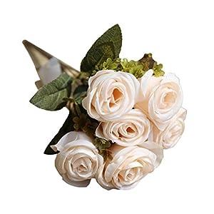YJYdada Artificial Silk Fake Flowers Roses Floral Wedding Bouquet Bridal Decor (E) 2