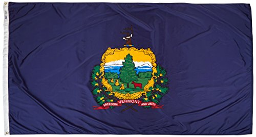 Cheap Annin Flagmakers Model 145480 Vermont State Flag Nylon SolarGuard NYL-Glo, 5×8 ft, 100% Made in USA to Official Design Specifications