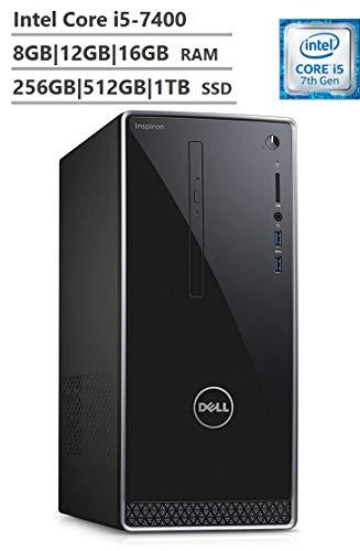 SaleProductsOffer - No.1 Best Online Store 41YWWskOM5L 2018 Flagship Dell Inspiron Desktop i5-7400|i5-8400, 8GB|12GB|16GB RAM, 256GB|512GB|1TB SSD, 1TB|2TB HDD, DVD-RW, Bluetooth, HDMI, Wi-Fi, MaxxAudio, Windows 10 Pro|Home, Black