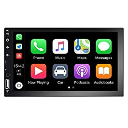 Autoradio Indash Car Stereo Double Din 7 Inch HD Touch Screen Radio Bluetooth FM with USB/AUX-in/RCA/Rear View Camera… 2
