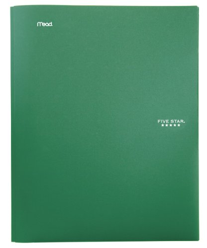 Five Star Advance Stay-Put carpeta, Verde, 1 paquete