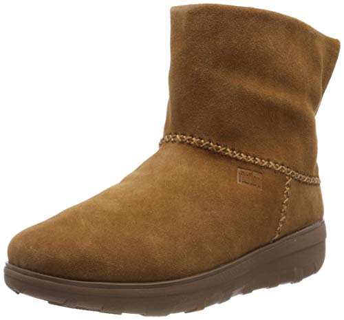 FitFlop Women's Mukluk Shorty 2 Boots Mid Calf, Chestnut, 8 M US