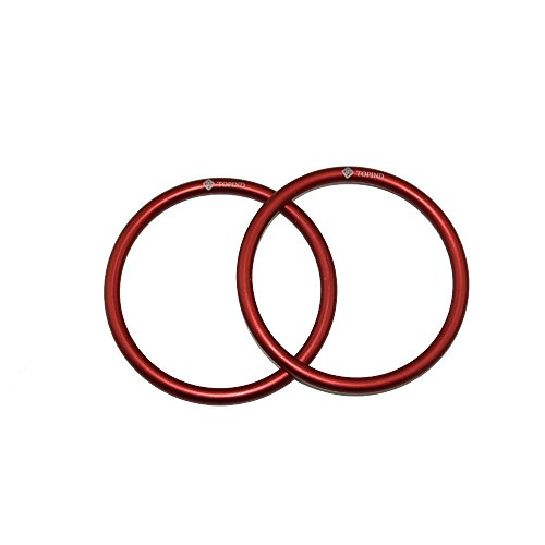 Aluminium Baby Sling Rings for Baby Carriers & Slings of 2 pcs (Red) ()