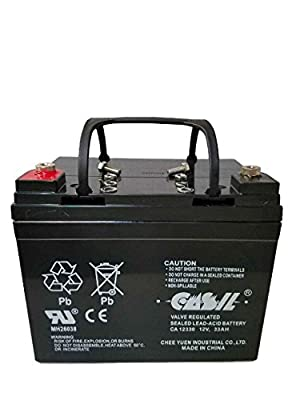 Casil 12v 33ah for DC DEEP CYCLE SLA SOLAR ENERGY STORAGE BATTERY
