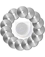 Steel Material Quilting Supplies and Accessories 45mm Rotary Cutter Blades Set Blades Replacement Blades Fits Rotary Replacement Blades Pack of 15 Perfect for Quilting Scrapbooking Sewing Art