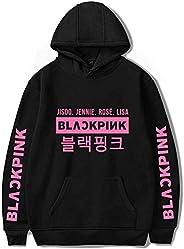 YEOU Kpop Blackpink Girls Group Unisex Hoodie Sweater Sweatshirt Pullover Rose Jennie Jisoo Lisa for Fans