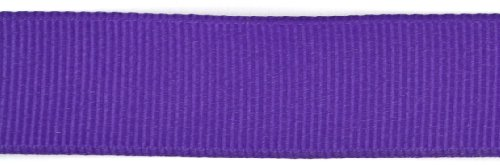 (Kel-Toy Polyester Grosgrain Ribbon, 5/8-Inch by 25-Yard, Purple)