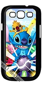 lilo and stitch Oscar Cartoon movie HD image case cover for Samsung Galaxy S3 I9300 black A Nice Present by runtopwell
