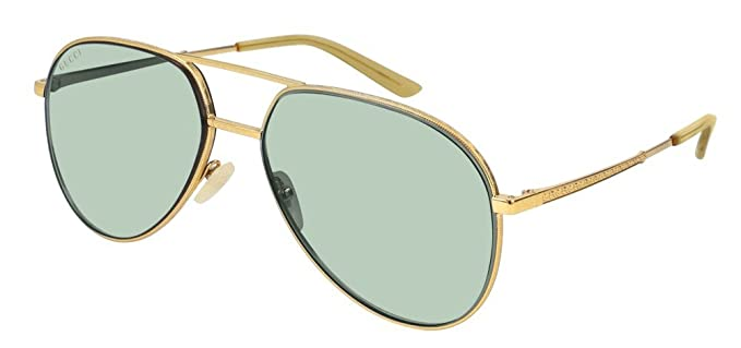 d686910c24 Image Unavailable. Image not available for. Color  Gucci GG0356S Sunglasses  004 Gold Gold ...