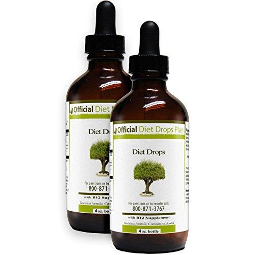 Official Diet Drops - Couples (2x 4 ounce bottles) by Original Diet Drops