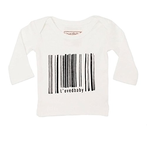 L'ovedbaby Unisex-Baby Organic Cotton Long Sleeve Shirt (White Can