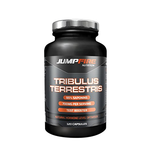 Jumpfire Nutrition Testosterone Boosters for Men - Tribulus Terrestris 95%...