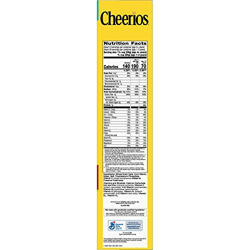 Cheerios, Cereal with Whole Grain Oats, Gluten Free, 20 oz