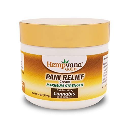 Original Hempvana Gold Pain Relief Cream for Arthritis by BulbHead - The Hemp Cream for Pain Relief & Joint Pain Relief with Cannabis Seed Extract