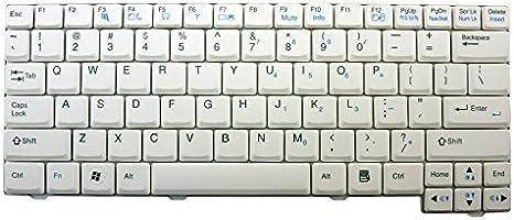 WishingDeals portátil color blanco teclado para LG X110 X120 ...