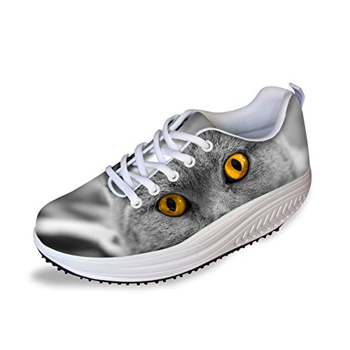Cat Cute Shoes IDEA Eye HUGS Slimming Platform Dog Women's fq0pawz5