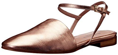 CHARLES DAVID Women's Mellow Flat Sandal, Rose Gold, 7.5 M US
