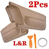 Beige Synthetic Leather Door Panel Insert Cards For 1998-2010 Volkswagen Beetle,2pcs Door Panel Insert Cards leather with Installation Tools