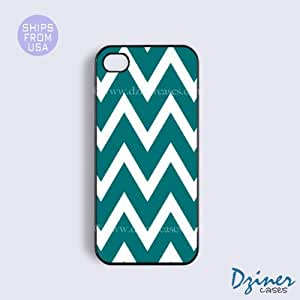 iPhone 4 4s Case - Green Chevron iPhone Cover