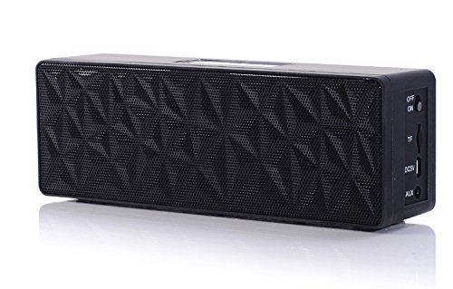 PowerLead Pspe P001 Bluetooth Speaker with Dual Drivers, Touch-Sensitive Controls, and Stereo Bass sound for Cell Phone,PC,Laptop,Tablet,iphone,SamsungBluetooth Wireless Speaker for 12 hrs Music Streaming & Hands-Black