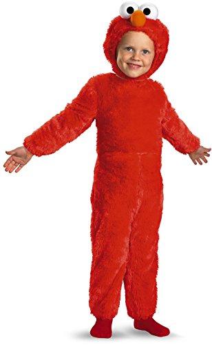 Sesame Street Soft Costumes (Sesame Street Elmo Comfy Fur Boys Costume, Large/4-6)