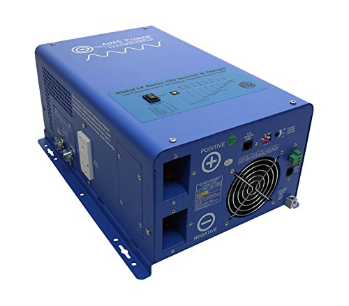 AIMS Power 1500 Watt 12VDC to 120VAC w/4500 Watt Surge Pure Sine Inverter Charger, ETL Certified to UL458