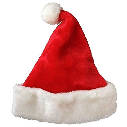 Pendant & Drop Ornaments - Christmas Party Hat Velvet Red And White Cap Costume - Ornaments Decor Cap Ornaments Hat Red Faux Christmas Women With Hat Fur Christmas Knit Snowman Door Pendant ()