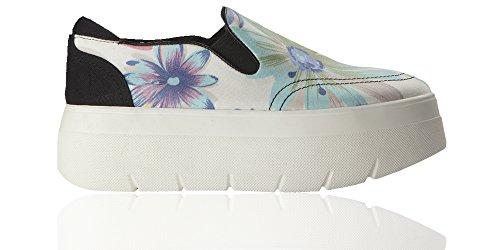 Alta Sneakers Suola White Police Yf On 253 Flower 883 Slip C FTwHIB
