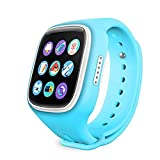 Kids Smartwatch, GIZEE 1.44'' OLED Display GPS Tracker Anti-lost SOS Remote Monitor Phone Alarm Mini Waterproof Child Wrist Watch for Children Safety, Compatible with IOS Android Smartphone (Blue)