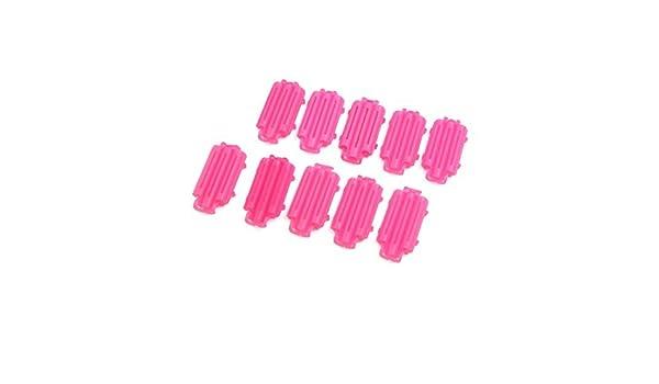 Amazon.com: eDealMax 10pcs rosa roja de plástico Mini rizador de Pelo rizado de la onda Junta de maíz Peinado Fabricante: Health & Personal Care