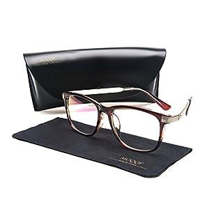 Eyewear Frames Eyeglasses Optical Frame Wayfarer Classic Clear Lens Glasses For Women&Men(C5)