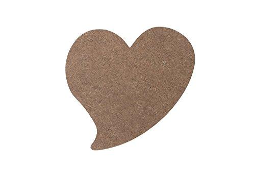 Milltown Merchants Conversational Heart MDF Plaque, 7.25 Inch x 6.5 Inch (18.42 cm x 16.5 cm)