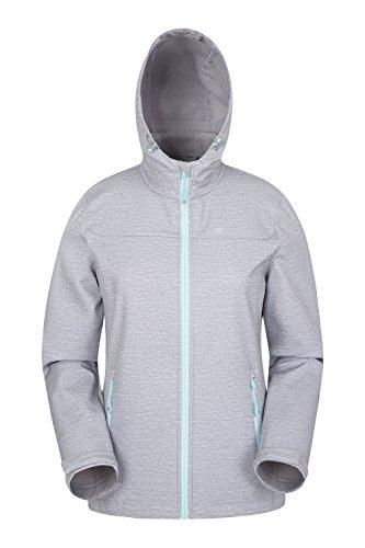 Mountain Warehouse Exodus Womens Printed Jacket - Spring Rain Coat Charcoal 6