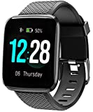MANCASSY Fitness Tracker, Smart Watch, Fitness Watch,Heater Rate Monitor, Waterproof Smart Fitness Band with Step Counter, Calorie Counter, Pedometer Watch for Kids Women and Men