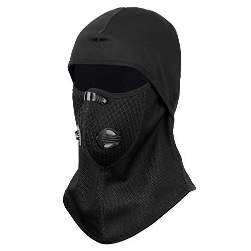 NATUCE Cagoule, Noir RéSistant Au Vent Face De TêTe Protecteur De Capot Chauffe-Cou pour Hiver Chasse en Plein Air… 1