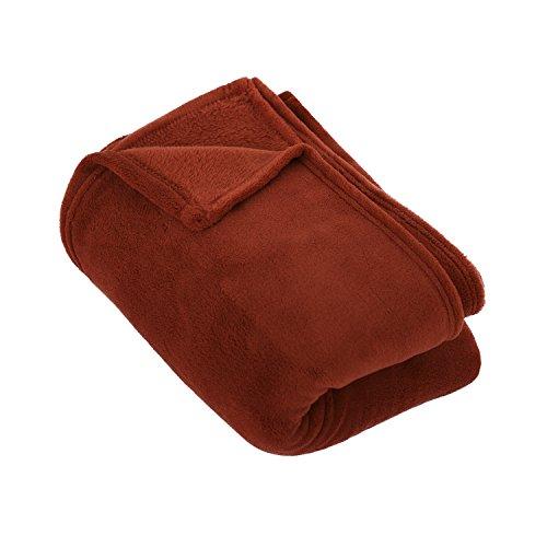Deconovo Home Coral Fleece Throw Blanket Lightweigh Solid Co