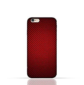 Apple iPhone 6 Plus/6 S Plus Silicone Case With Abstract Red With Black Dots Pattern