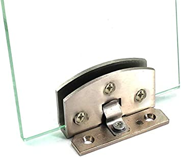 bisagra duradera para puerta de armario de cristal para cristal de 5 a 8 mm Vogueing Tool plateado Abrazadera de puerta con bisagra de aleaci/ón de zinc