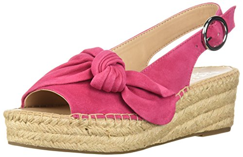 Franco Sarto Womens Hot - Franco Sarto Women's Pirouette Espadrille Wedge Sandal hot Pink 7.5 M US