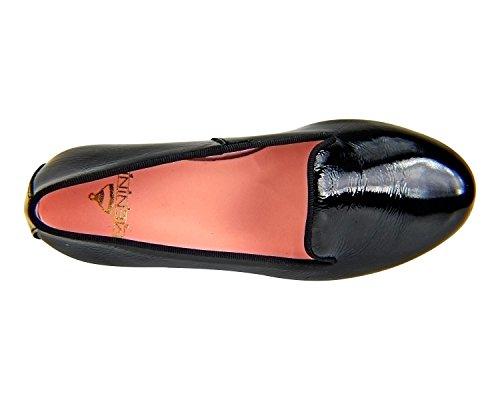 ... Menina Étape Kiper Femmes Ballerine Chaussures Plates Monzon Negro ...
