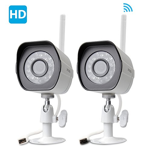 Zmodo 720p HD Outdoor Home Wifi Security Surveillance Video Cameras System (2