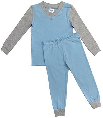 Esme Boys Pajamas Long Sleeve Top & Pant Set 4 Blue / Grey