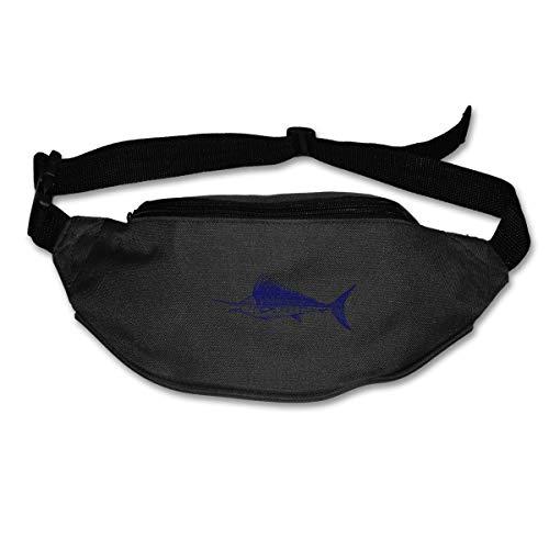 Sailfish Swordfish Jumping Fashion Fanny Pack Waist Bags Fanny Pocket Adjustable Hip Bag Waist Pack Running Belt ()
