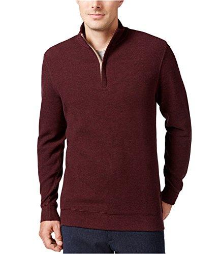 Tasso Elba Mens Pique Long Sleeve Sweater Red L from Tasso Elba