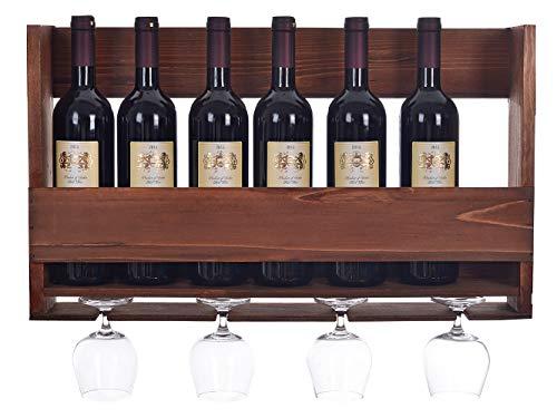8 bottle wall mounted wine rack - 8