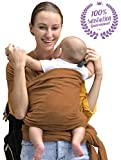 Baby Wrap Carrier for Newborn, Infants & Toddlers - Bonne Vie Baby | Lightweight & Breathable Cotton Sling for Men & Women | Baby Wearing Made Easy | Boy Girl Baby Shower Gift & Registry Must Haves